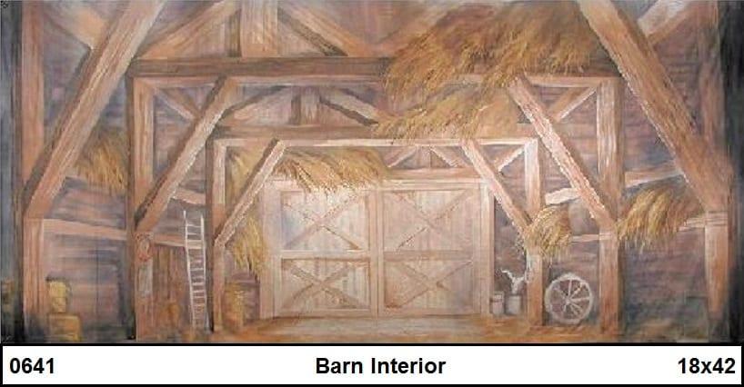 barn interior backdrop...
