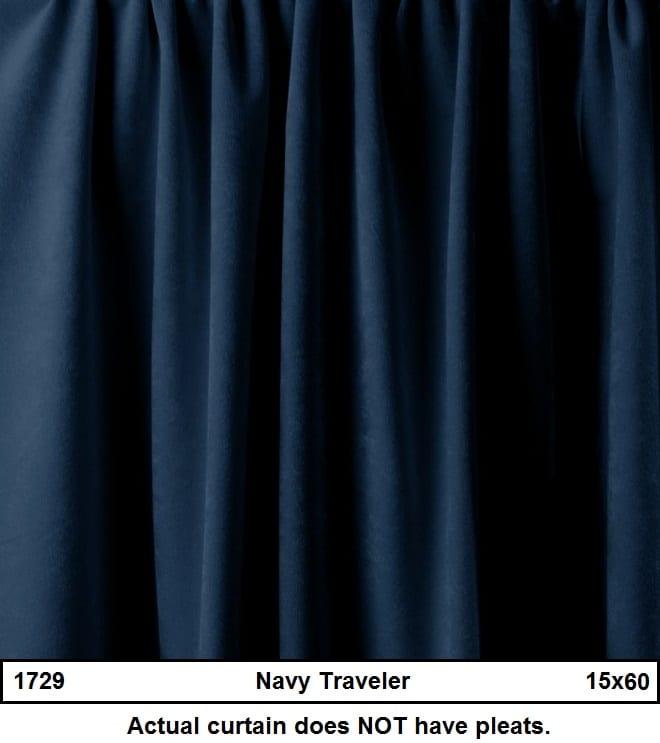 Navy Blue Duvetyne Traveler Backdrop - Backdrops by ...