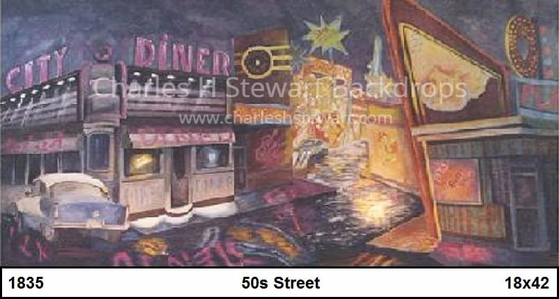 S Diner Street Backdrop