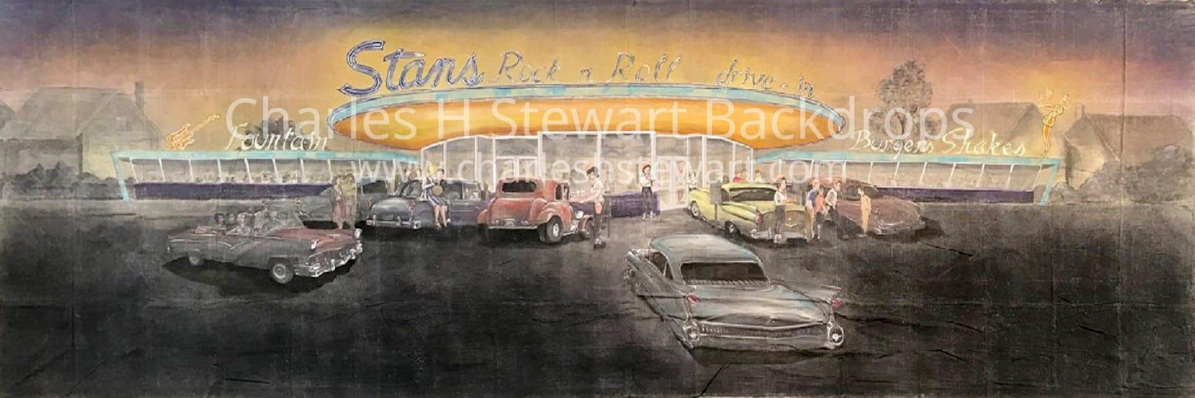 Description 1950s Drive In Diner