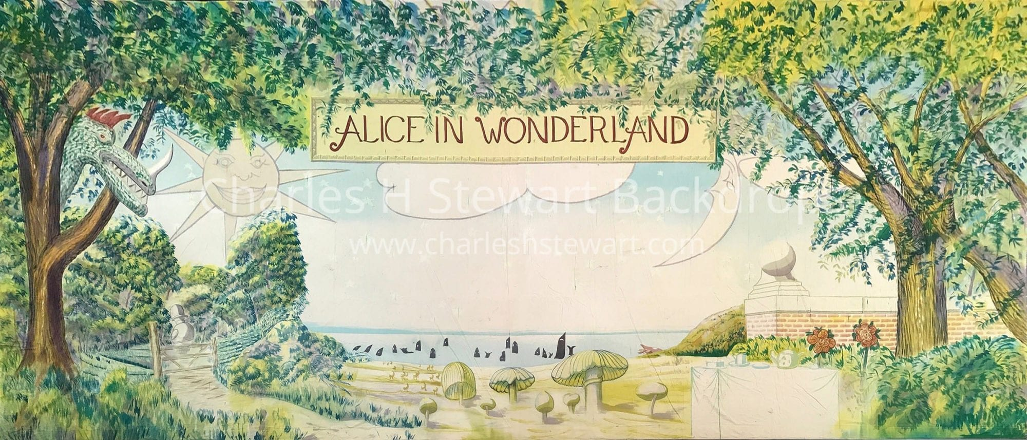 Alice In Wonderland Show Backdrop Backdrops By Charles H Stewart