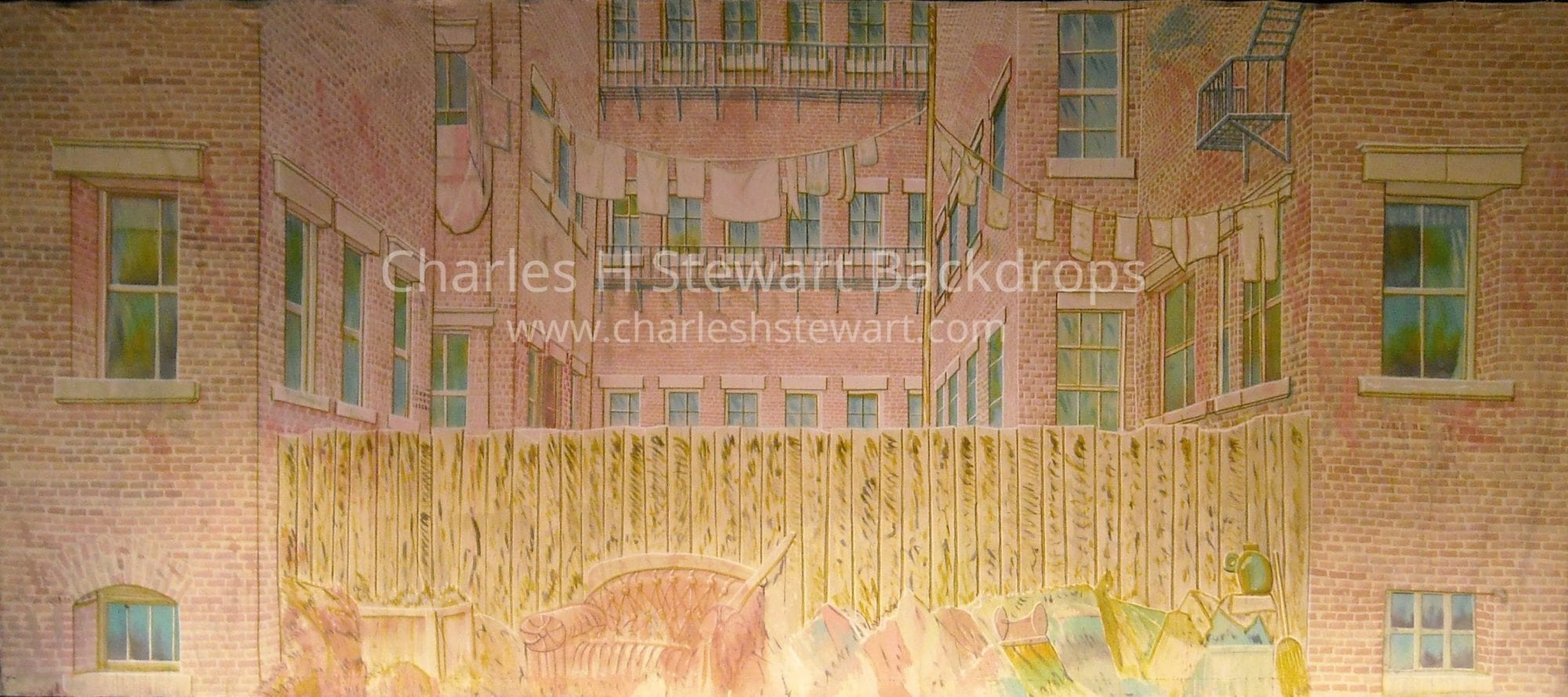 Alley Backdrop Backdrops By Charles H Stewart