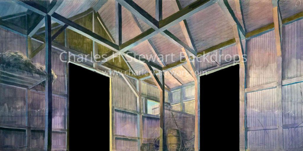 Barn Interior Cut Backdrop Backdrops By Charles H Stewart