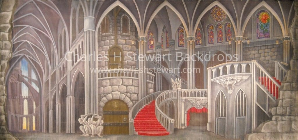 Castle Interior Backdrop Backdrops By Charles H Stewart