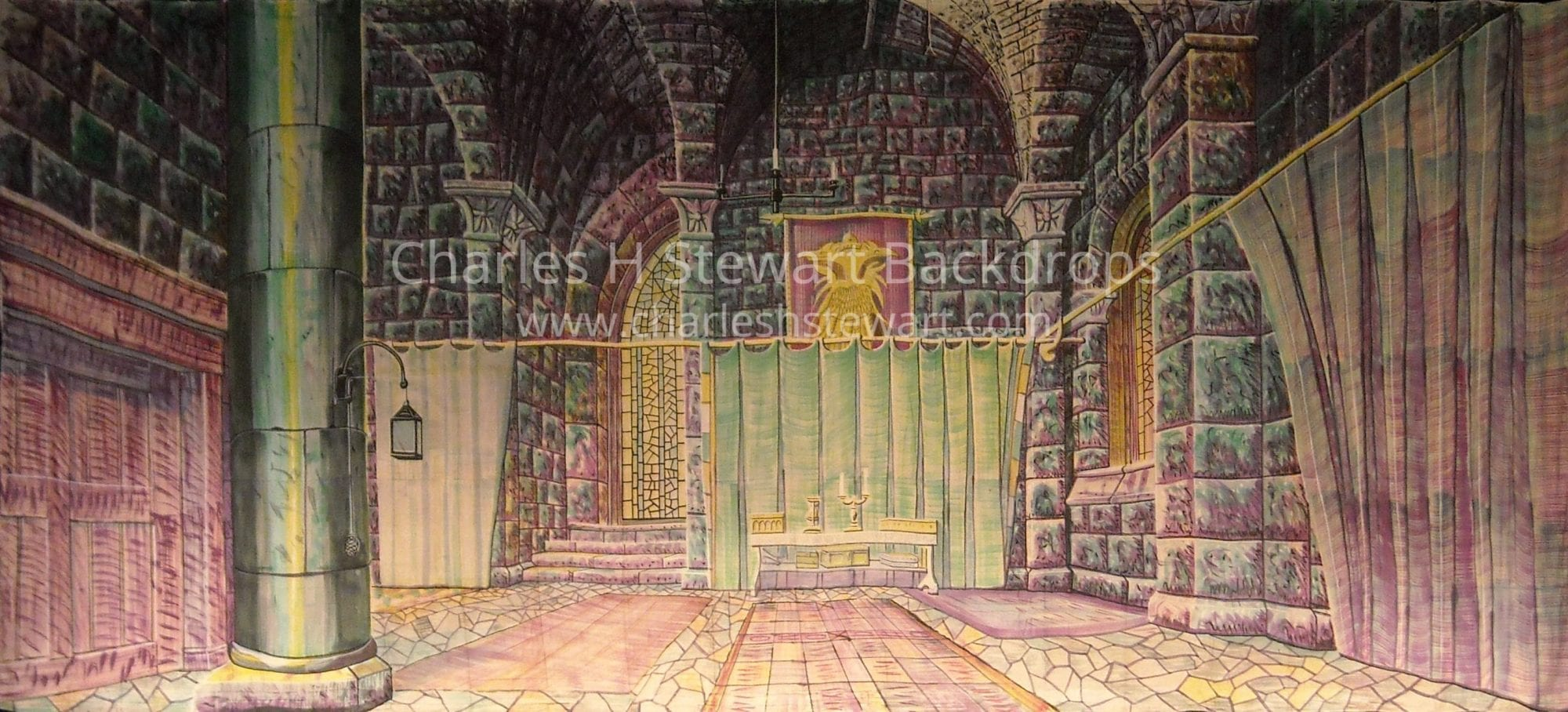 Medieval Bedroom Queens Bedroom Backdrop Backdrops By Charles H Stewart