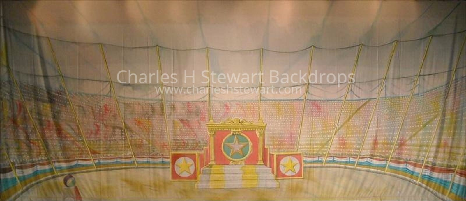 Circus Tent Interior Backdrop & Circus Tent Interior Backdrop - Backdrops by Charles H. Stewart