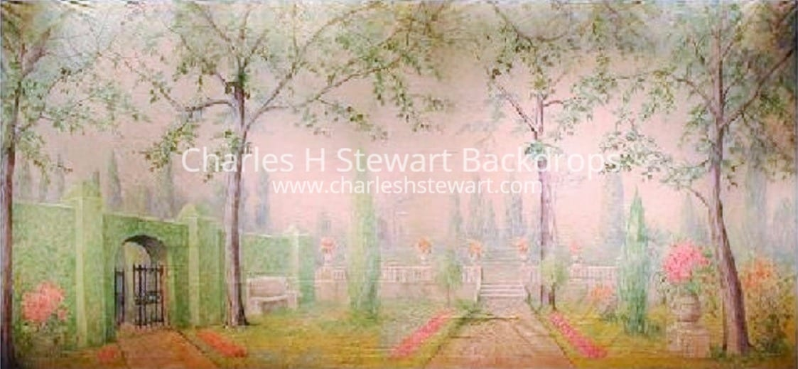 Garden Backdrop Backdrops by Charles H Stewart