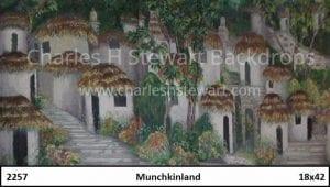 Munchkinland-Backdrop