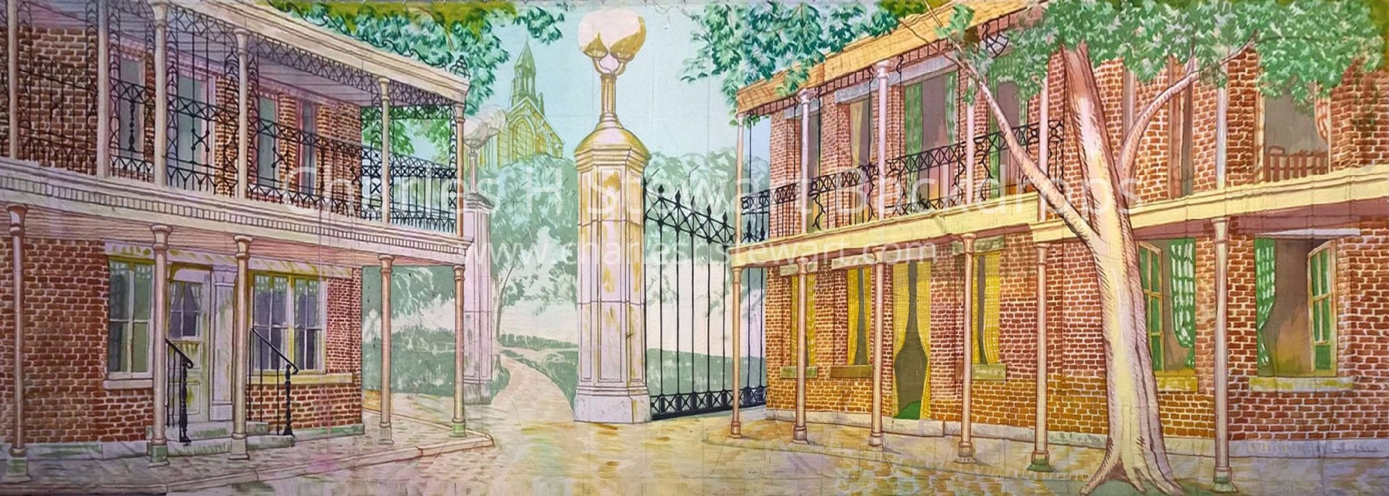 Home Design Quarter Contact Number New Orleans Street Backdrop Backdrops By Charles H Stewart