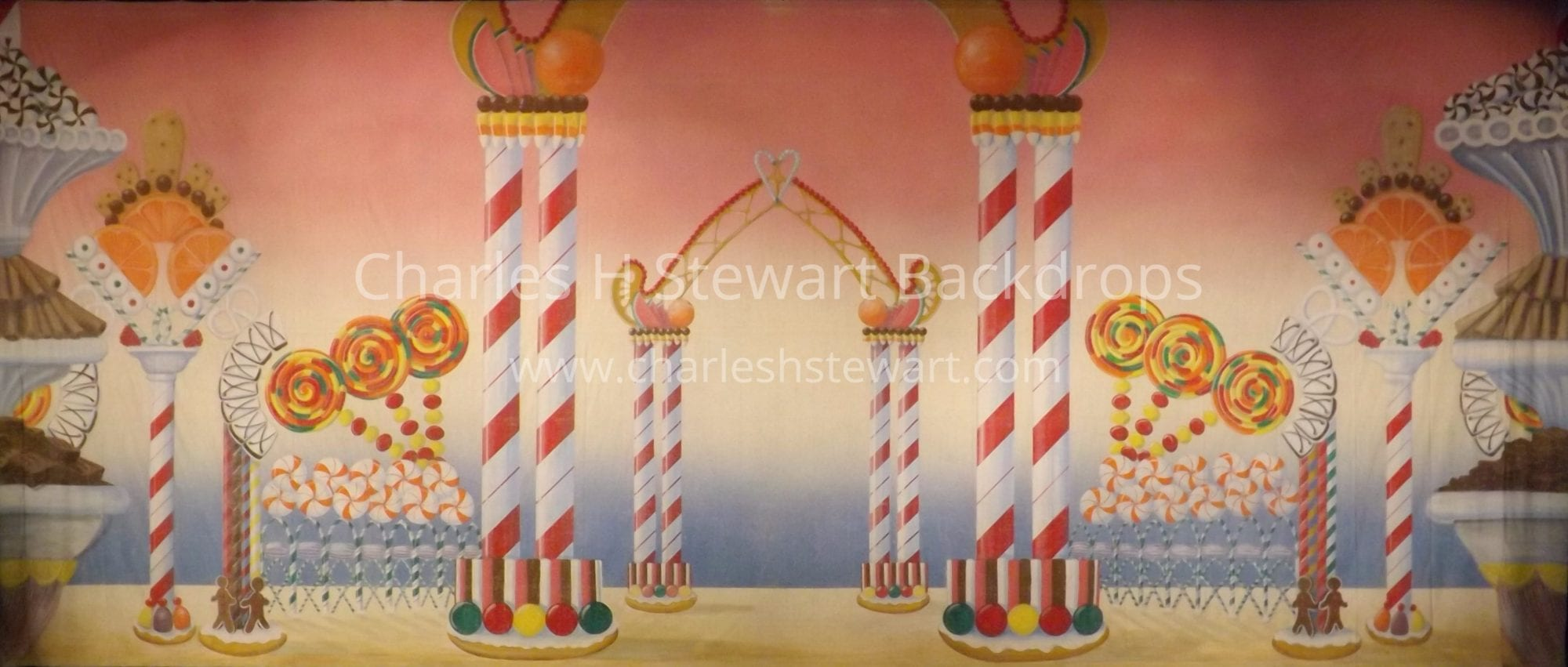 1950s Interior Design Land Of Sweets Backdrop Backdrops By Charles H Stewart