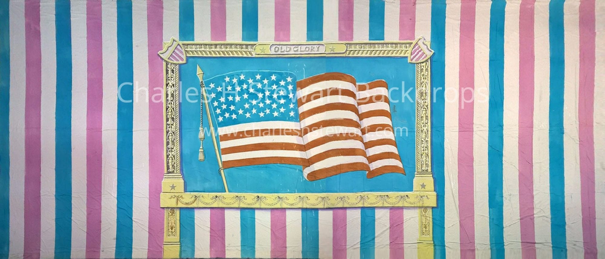 american flag backdrop backdrops by charles h stewart