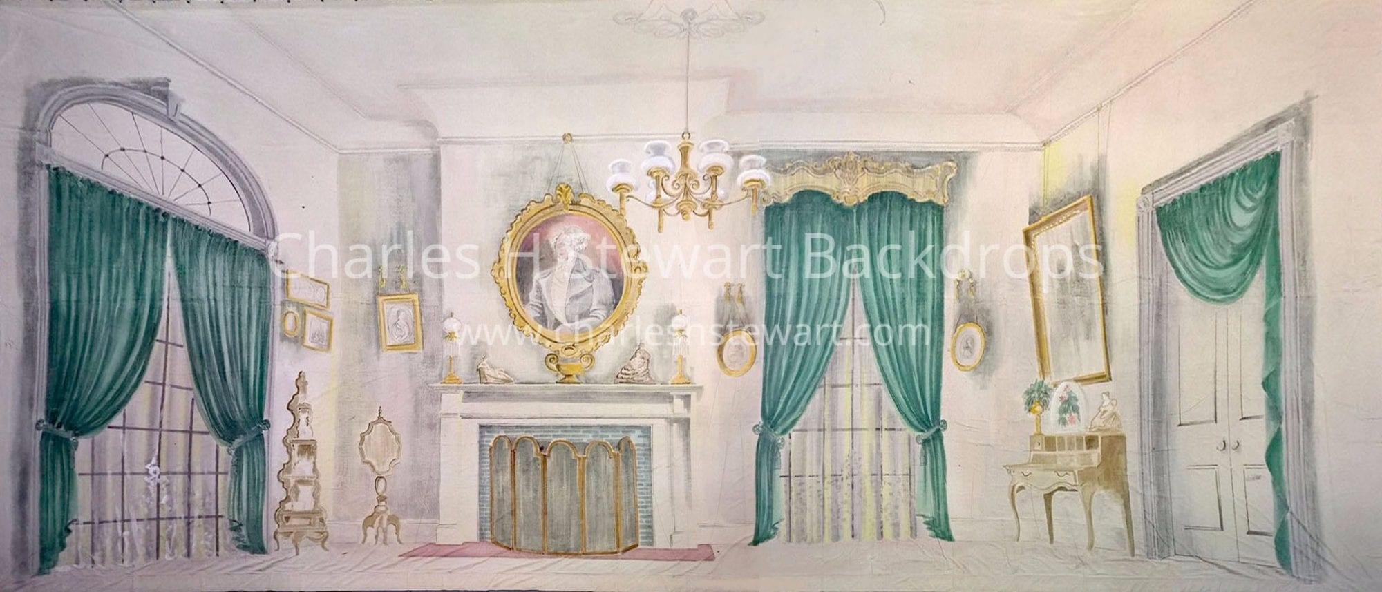 Drawing Room Backdrop Backdrops By Charles H Stewart