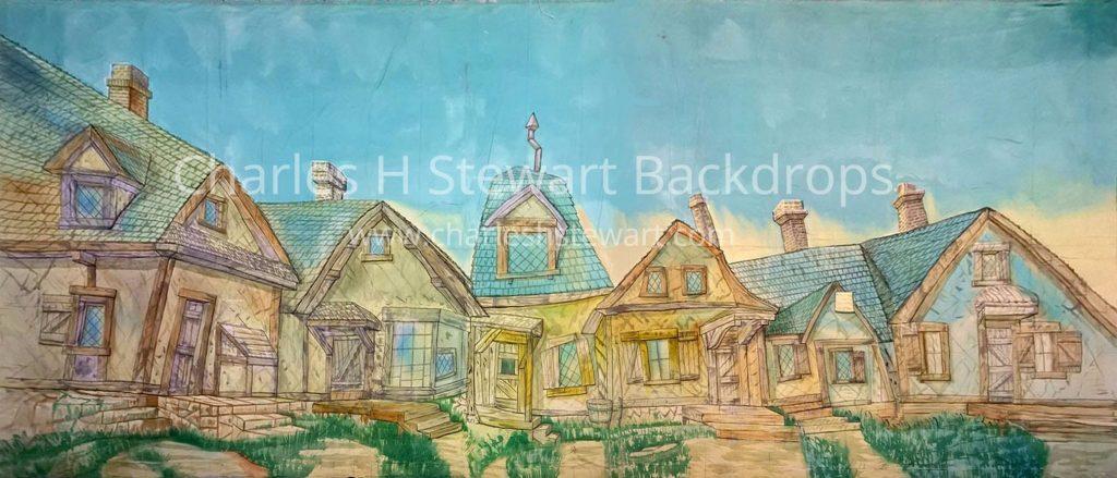 Village Street Backdrop Backdrops By Charles H Stewart