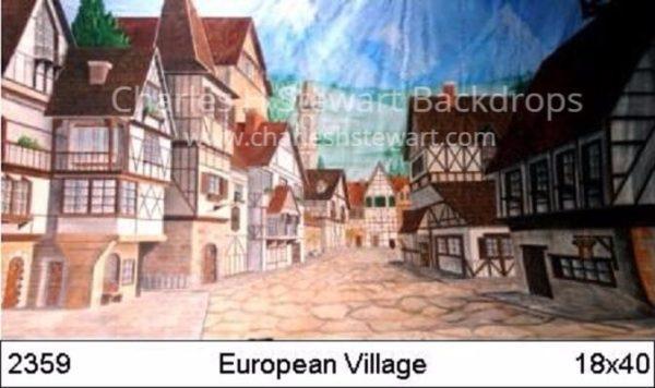 Village-Street-Backdrop