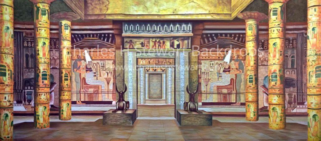 Egyptian Palace Interior Backdrop Backdrops By Charles H