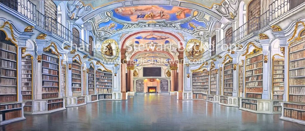 Palace Library Backdrop Backdrops By Charles H Stewart