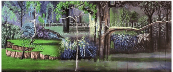 woods scene backdrop