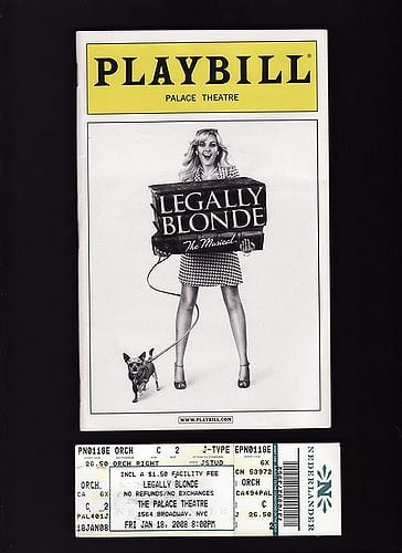 Legally Blond Playbill