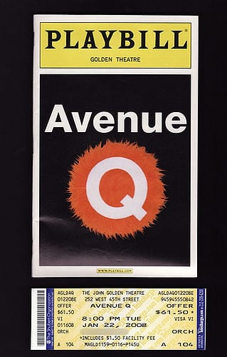playbill avenue Q