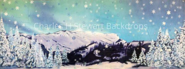 Winter Wonderland Backdrop For Rent