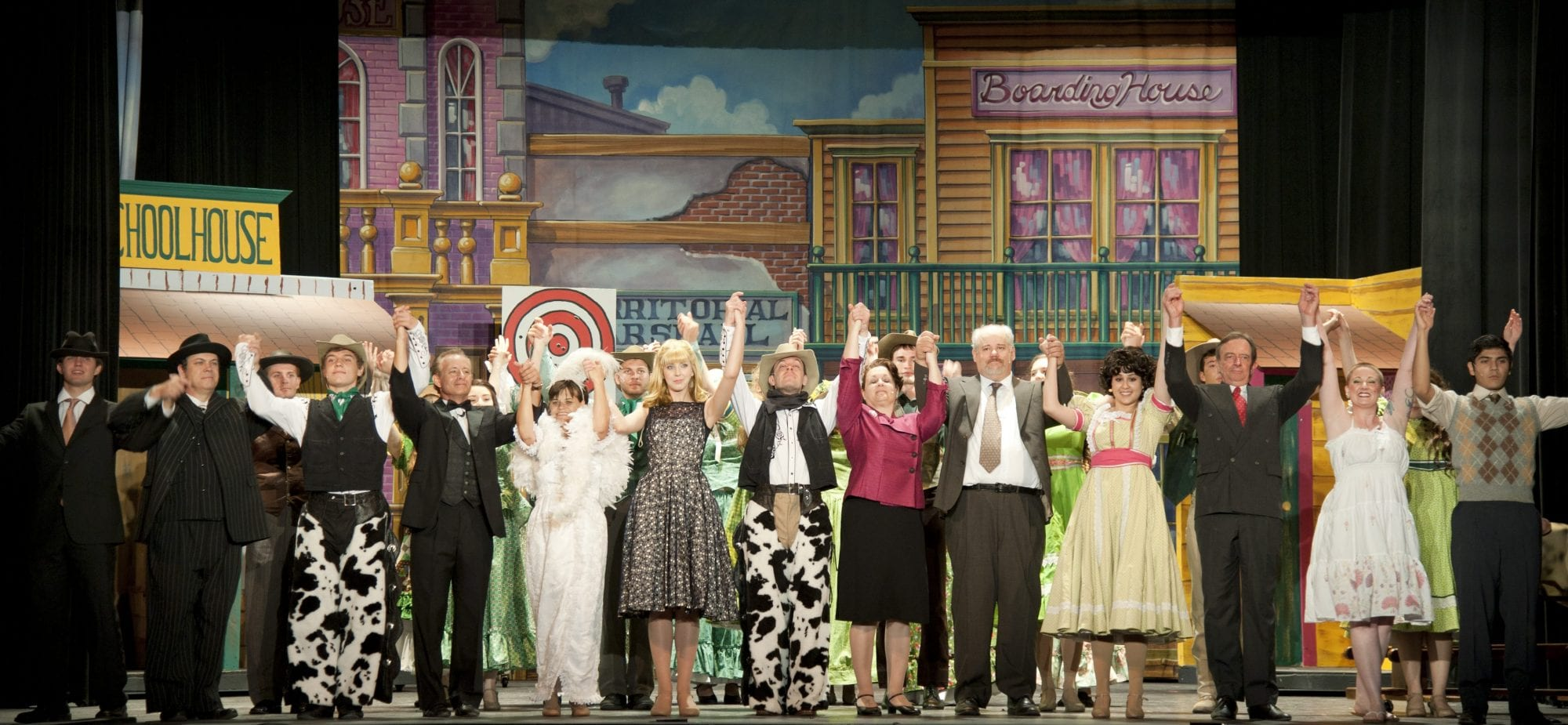 entire cast on stage