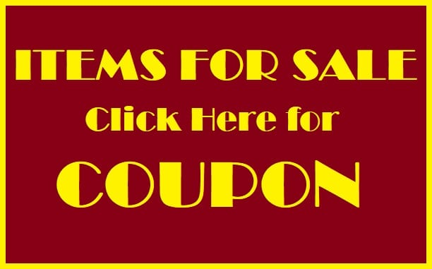 Items for Sale Coupon