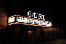 marquee at off broadway theater